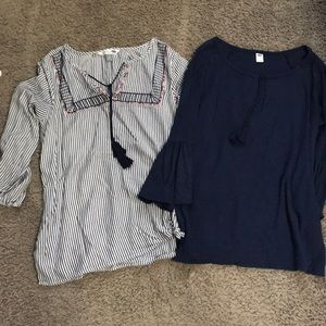 Lot of old navy boho style tops